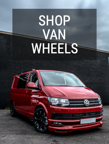 Red Volkswagen T6 Van Wheels Promo Banner